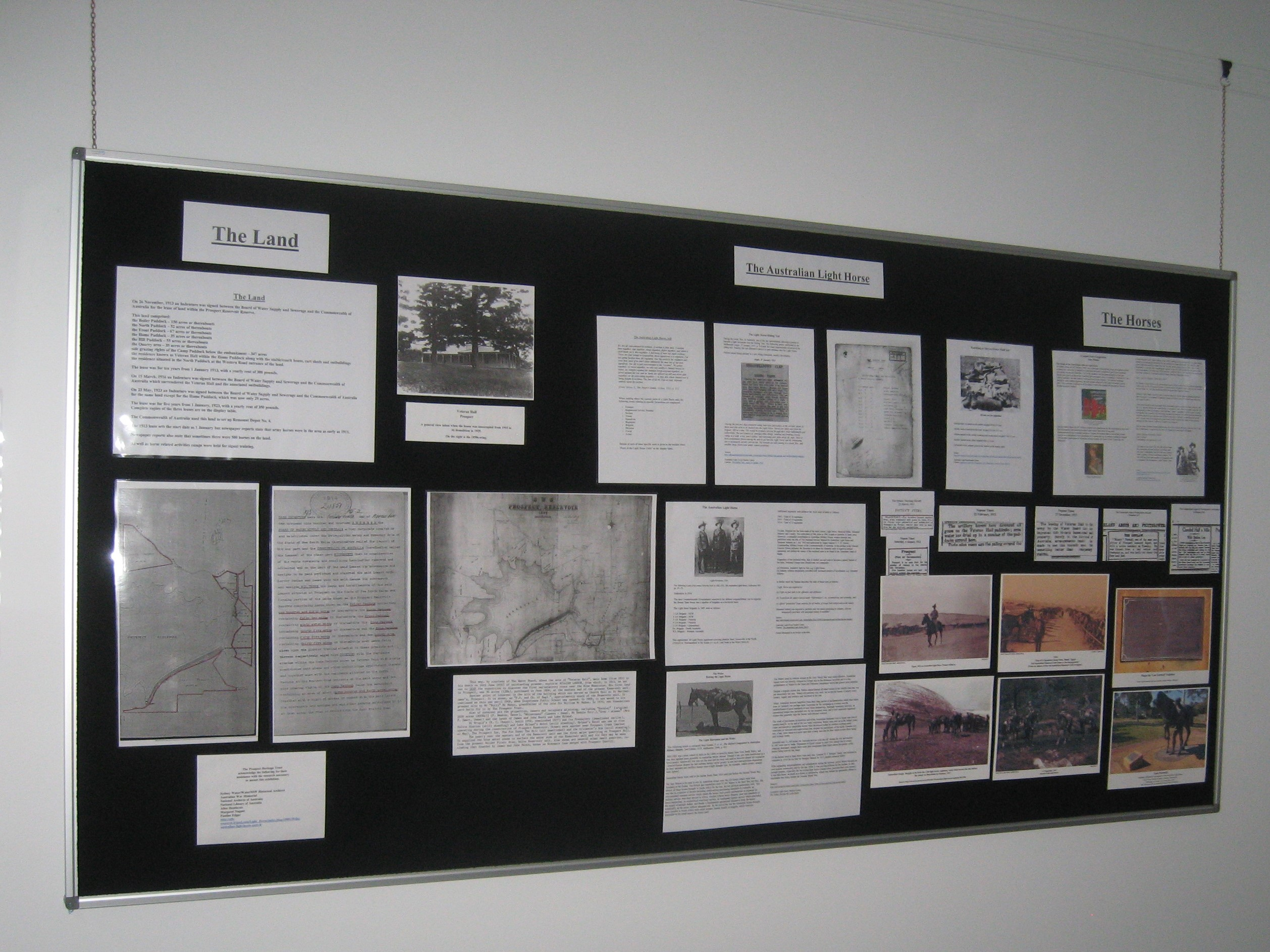 Display board, 'Remount Depot No 4 – Prospect's connection to WW1'
