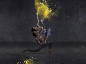 30 years of sixty five thousand, Rika Hamaguchi and Tyrel Dulvarie, Bangarra Dance Theatre. Photo by Daniel Boud