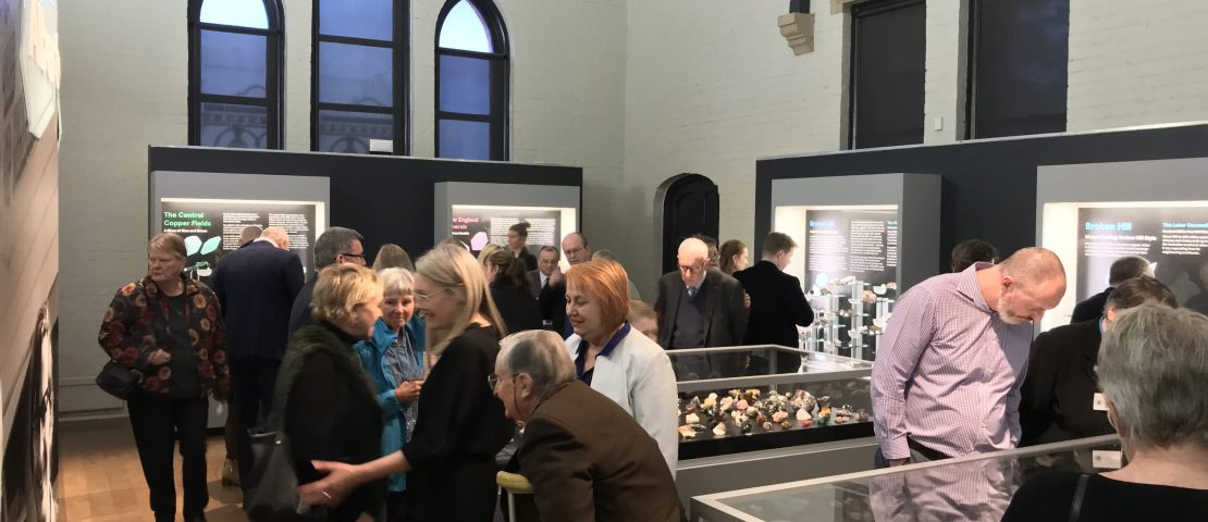 Albert Chapman Mineral Collection launch event at the Australian Fossil and Mineral Museum