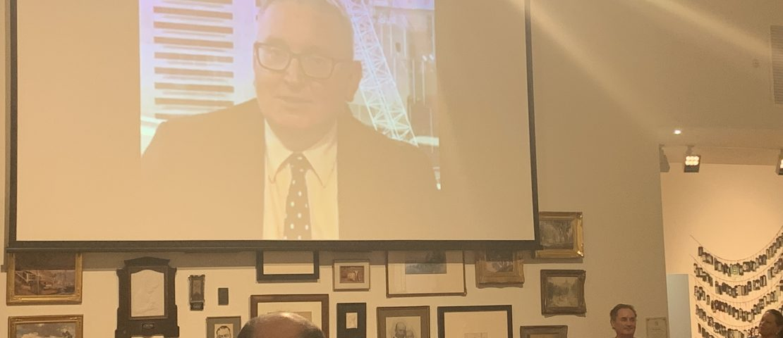 NSW Arts Minister, Don Harwin sent a video message congratulating Tamworth Regional Gallery on turning 100.