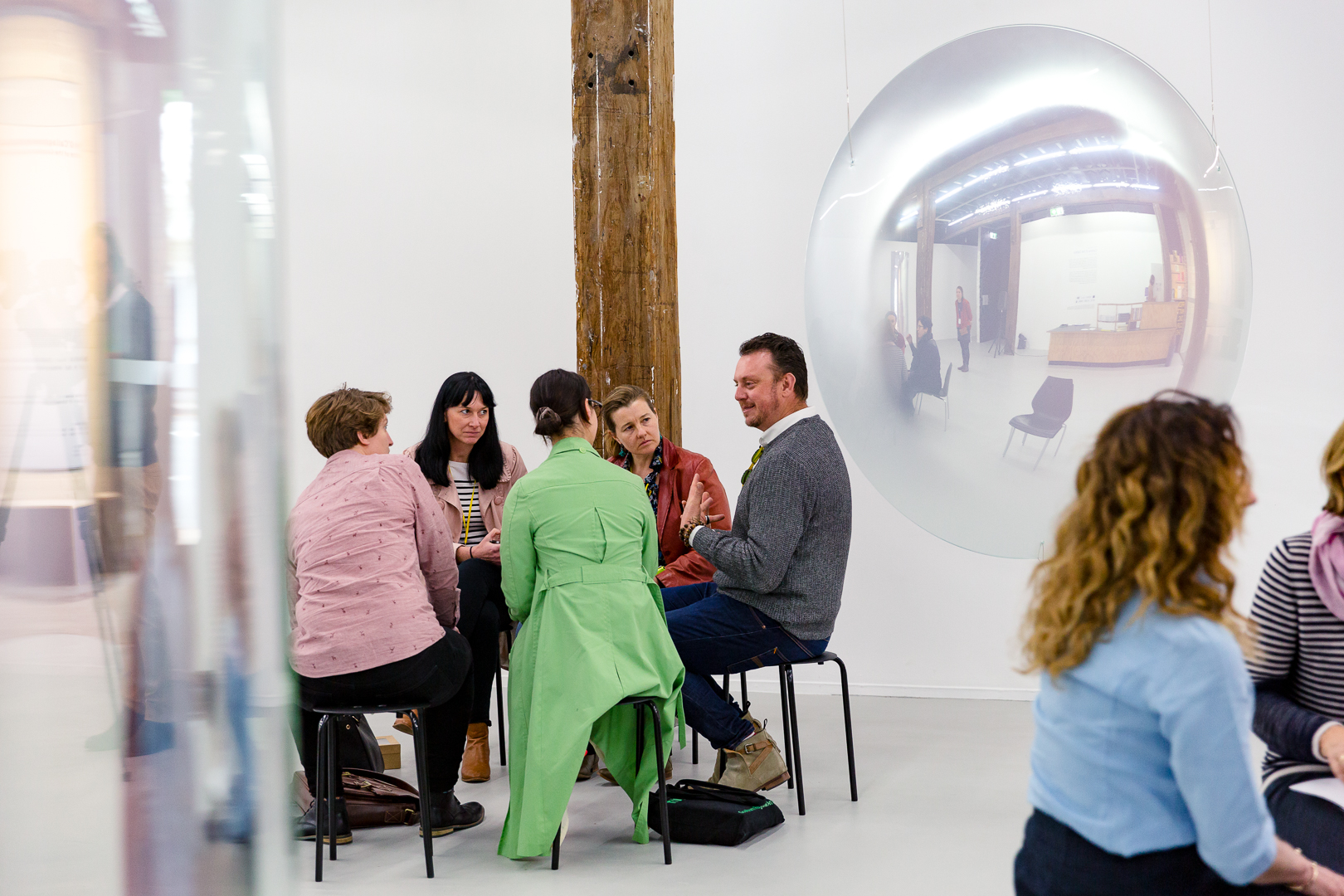 Cultural Mediation in Practice workshop featuring Mel O'Callaghan's exhibition Centre of the Centre. Photograph by Document Photography
