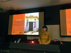 Marion Buchloh-Kollerbohm delivering 'Cultural Mediation: The Art Centre as a Citizen's Place' at the University of Sydney, 2019