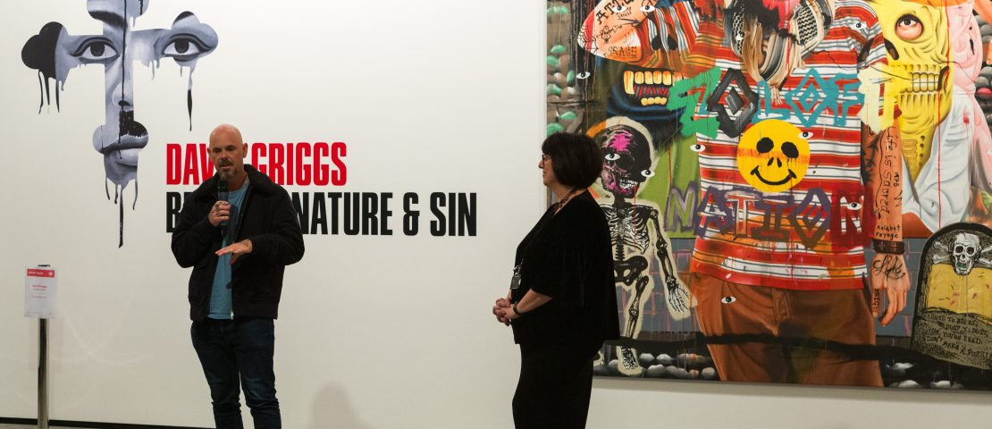 David Griggs: BETWEEN NATURE AND SIN, David Griggs speaks at the opening of his exhibition at Maitland Regional Art Gallery, May 2019