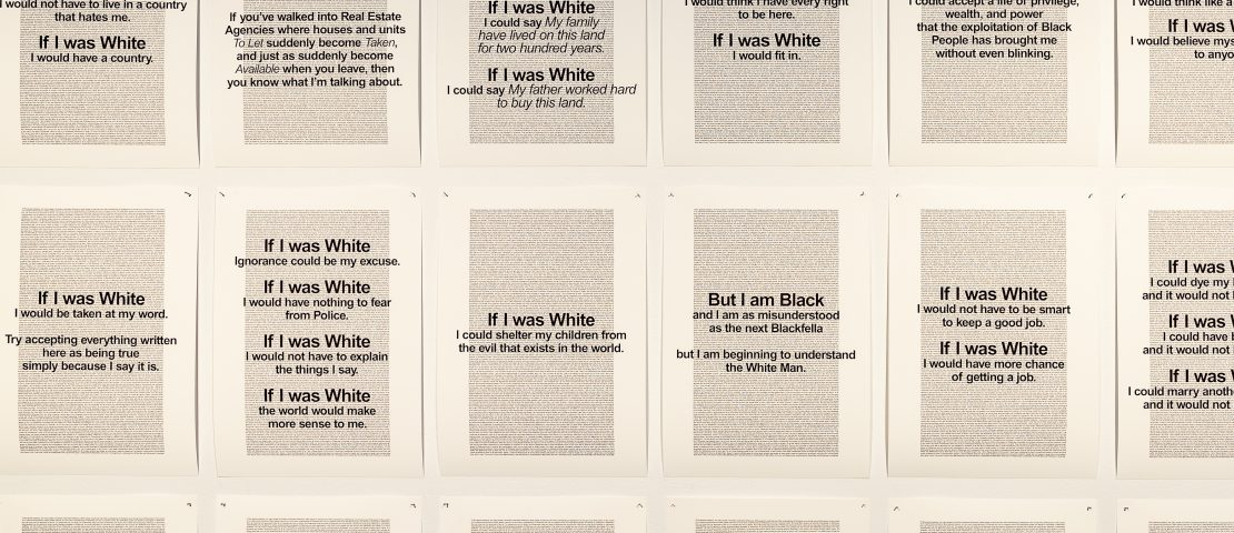 Vernon Ah Kee, if I was white, 2002