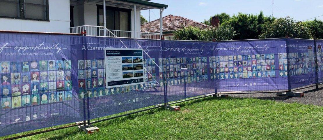 Grafton Regional Gallery, Robinson Ave fence