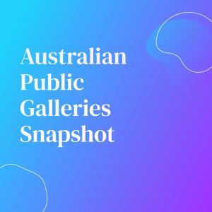 Australian Public Galleries Snapshot