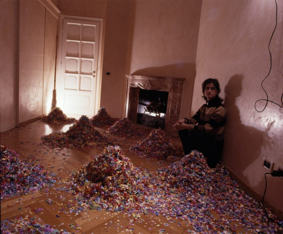 Katthy Cavaliere, invisible city, 2002, installation at a private residence, Milan, Italy, courtesy of estate of the artist