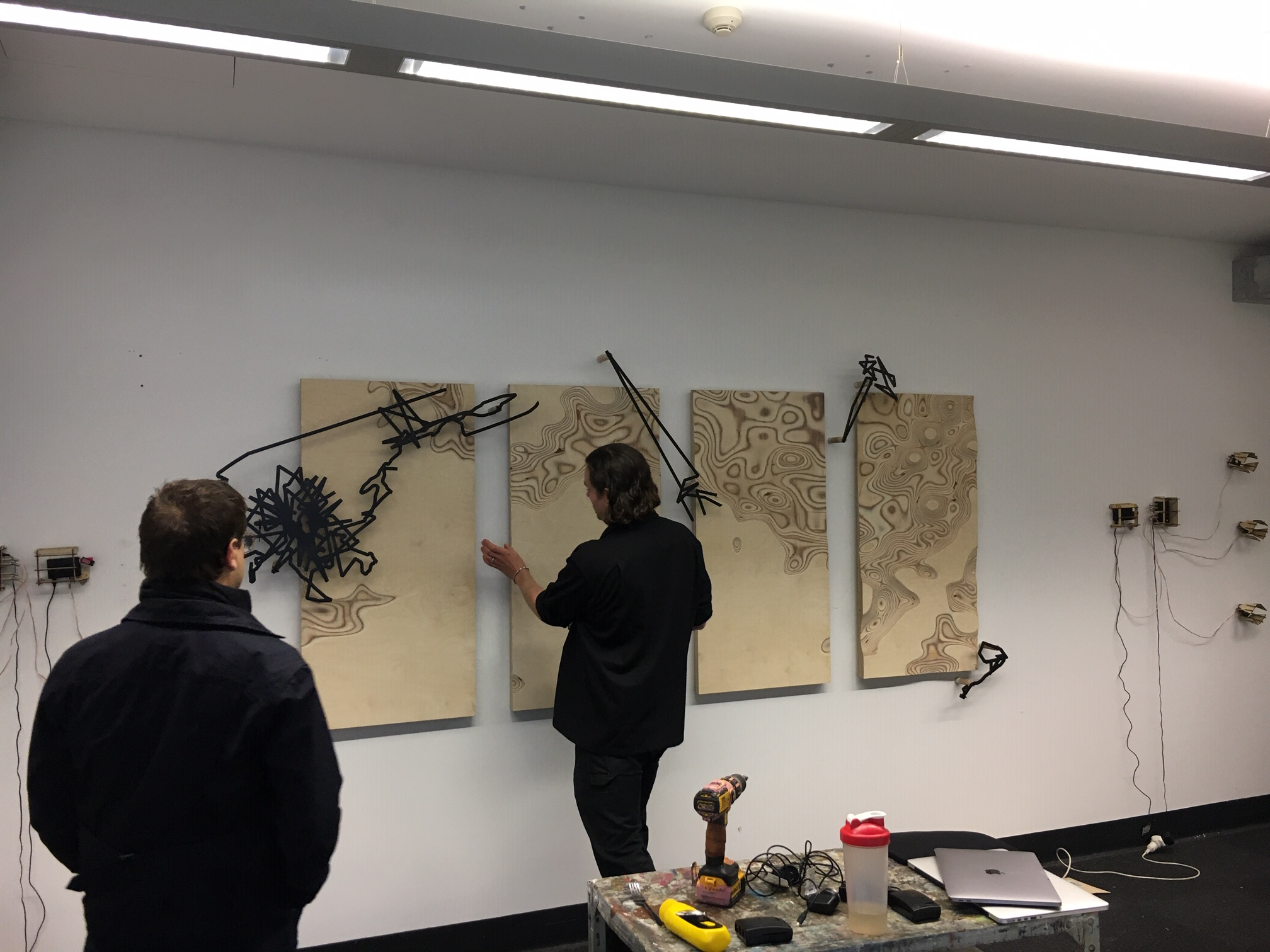 Studio visit with Vincent and Vaughan Wozniak-O'Connor with Material Sound curator Caleb Kelly, 2020